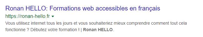 Google search console SERP classique
