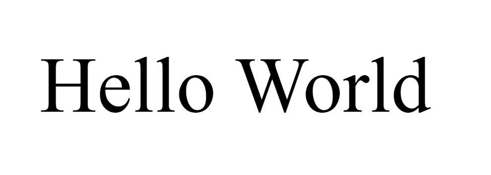 Hello World dans le navigateur